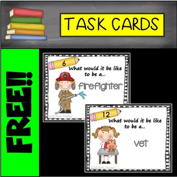 FREE Writing Task Cards- Community Helpers