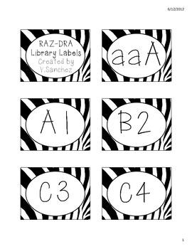 FREE Zebra Print Theme DRA-RAZ Library/Book Labels