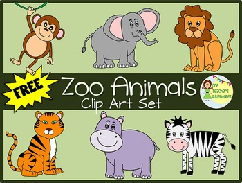 FREE Zoo Animals Clip Art - 12 images for personal or comm