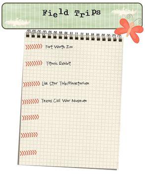 FREE field trip planner form