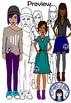 Teens and Teenagers Clip Art Set 1 - girls