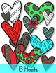 Holiday Candy Canes, Bows & Hearts Clip Art ~ Christmas Gr