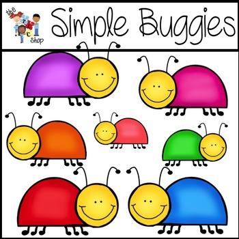 Simple Buggies Clipart Set