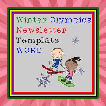 FREE WINTER OLYMPICS - Newsletter Template WORD