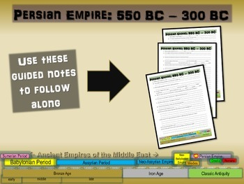 FREE guided notes for the PERSIAN EMPIRE (part 5 of the Me