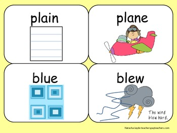 FREE homophones flash cards and worksheets