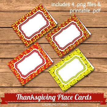 FREE printable Thanksgiving placecards  PR250