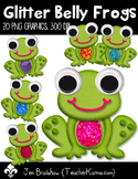 Frogs: Glitter Belly Clip Art ~ Commercial Use OK