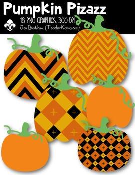 Pumpkin Pizazz Clipart ~ Commercial Use OK ~ Halloween