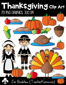 Thanksgiving Clip Art ~ Commercial Use OK ~ Fall