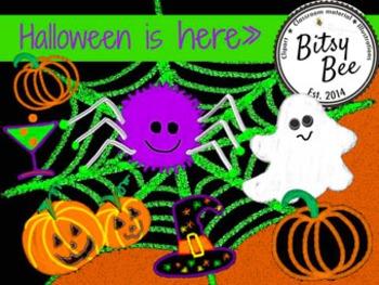 "FREEBEE  ""Halloween is Here"" Chalk and Glow.  (Bitsy Bee C"
