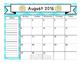 FREEBIE! 2016-17 Teacher Calendar