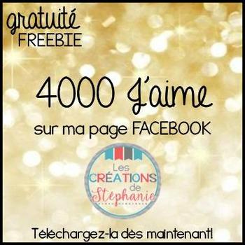 FREEBIE - 4000 J'aime sur Facebook