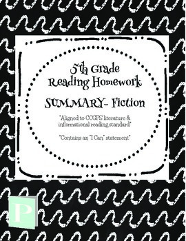 *FREEBIE* 5th Grade Summary Homework