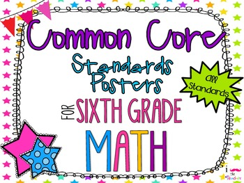 {FREEBIE} 6th Grade Math Common Core *Standards Posters* N