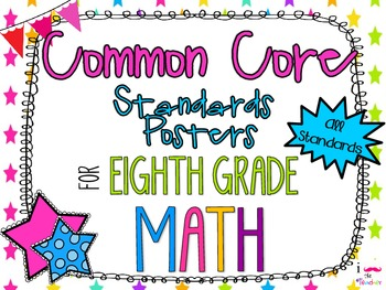 {FREEBIE} 8th Grade Math Common Core *Standards Posters* N