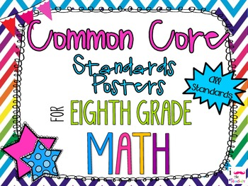 {FREEBIE} 8th Grade Math Common Core *Standards Posters* R