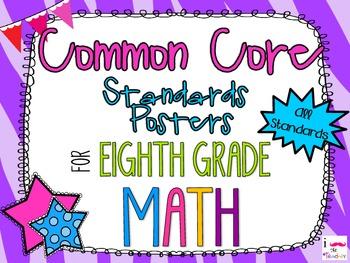 {FREEBIE} 8th Grade Math Common Core *Standards Posters* Z