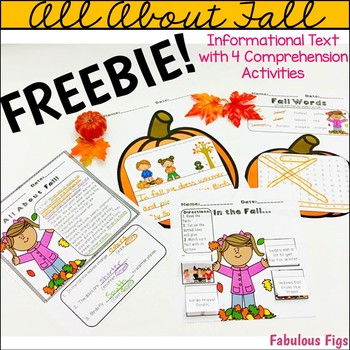 FREEBIE: All About Fall Informational Text with 4 Comprehe