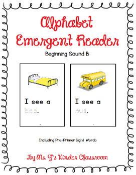 FREEBIE! Alphabet Emergent Reader: Beginning Sound B