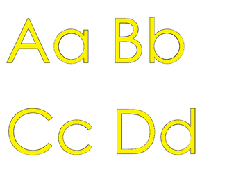 FREEBIE: An Alphabet for Your Wall with YELLOW letters