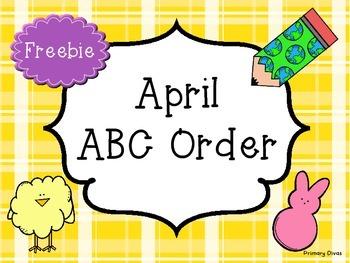 *FREEBIE* April ABC Order