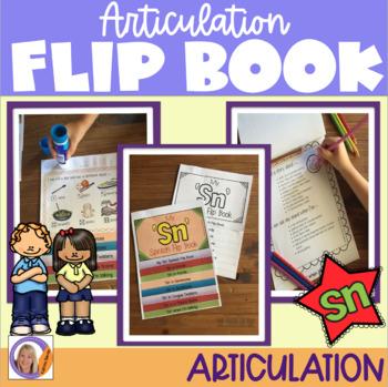FREEBIE! Articulation flip book- 'sn' blend
