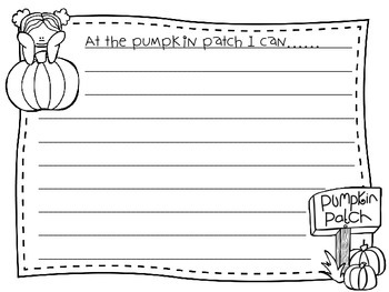 FREEBIE At The Pumpkin Patch Writing Prompt