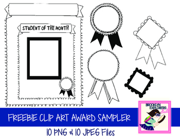 FREEBIE: Awards/Certificate Clip Art Set (20 Files)