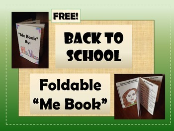 """FREEBIE: Back to School Foldable """"Me Book"""" - Getting to Kn"""