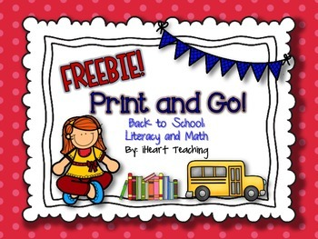 FREEBIE: Back to School Print and Go!