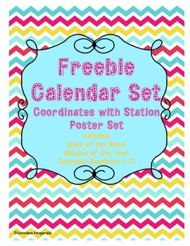 FREEBIE Calendar Set (Months of the Year, Days of the Week