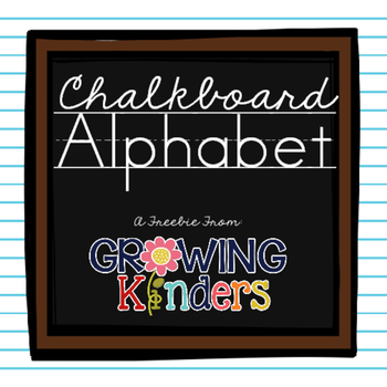 FREEBIE! Chalkboard Alphabet Line