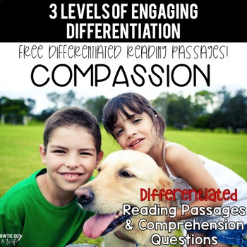 FREEBIE: Character Trait Spotlight~Compassion Differentiat