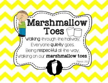 {FREEBIE} Chevron Themed Marshmallow Toes Hallway Expectat