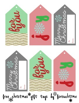FREEBIE Christmas Gift Tags {3 digital designs}