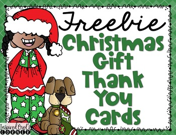 FREEBIE Christmas Gift Thank You Cards