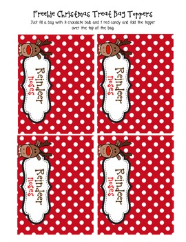 FREEBIE!!!!! Christmas Treat Bag Toppers