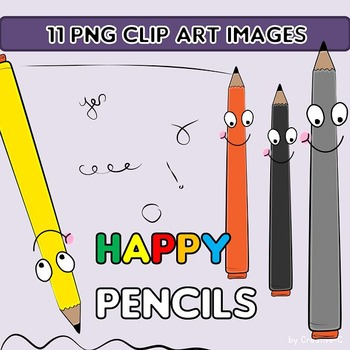 FREEBIE  Clip Art - PENCILS  - Commercial educational Use