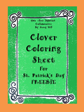 FREEBIE Clover Coloring Sheet for St. Patrick's Day