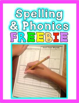 FREEBIE: Common Core Foundational Skills Word Work: Phonic