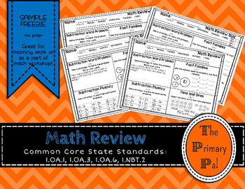 FREEBIE Common Core Math Review Sample
