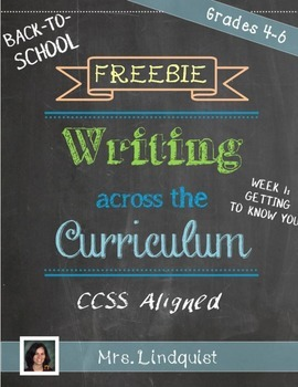 FREEBIE: Common Core Writing for Upper Elementary - Back-t