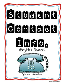FREEBIE! Contact Information Sheet (English & Spanish)