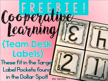 FREEBIE ~Cooperative Learning Team Labels (Made for Target