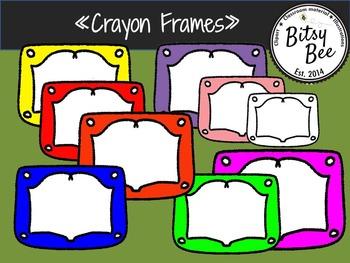"FREEBIE ""Crayon Frames"" (Bitsy Bee Clip Art)"