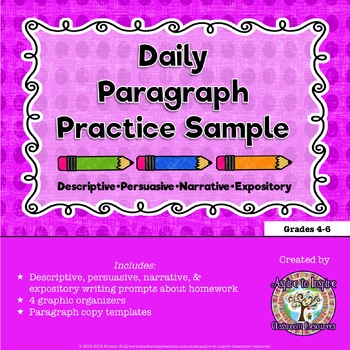 FREEBIE Daily Paragraph Practice Sample