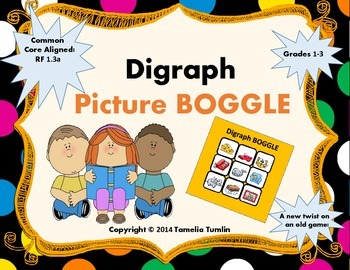 FREEBIE! Digraph Picture BOGGLE (Grades 1-3)