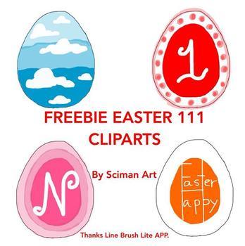 FREEBIE EASTER 111 CLIP ARTS