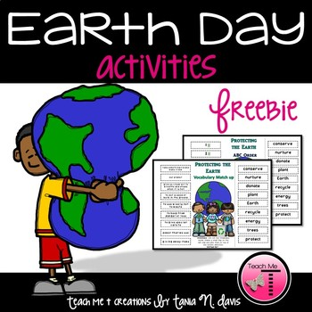 FREEBIE~ Earth Day ABC Order & Vocabulary Match Up Activity